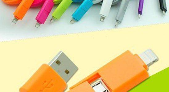2 i 1 micro USB med Lightning adaptor