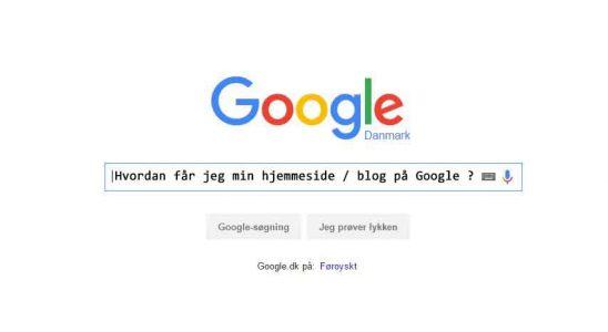 Kom på Google med dit ny website