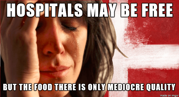 Hospitals may be free - But food there is only mediocre quality