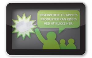 WePromote_Danmarks største udvalg i reservedele til bærbare_bærbarskærm_ipad