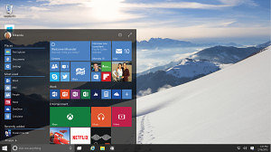 Den nye start menu i windows 10