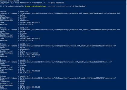 Lav en backup af dine drivers med PowerShell (Windows 10)